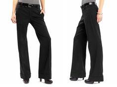 Wide leg black pants