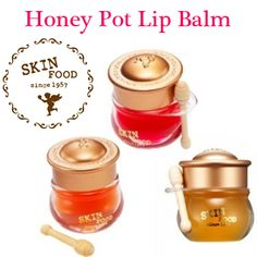 [ SKINFOOD ] HONEY POT LIP BALM  6.5g #3 Honey   Korean cosmetics - These are so cute!