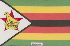 The Republic of Zimbabwe. Beautifully stitched postcards by the talented North Hertfordshire & Bedfordshire Branch of the Embroiderers' Guild.  http://www.embroiderersguild.com
