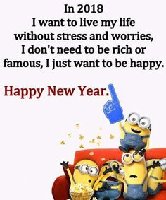 Amen! 2018 No Stress, No Worries, No Drama, Don't Need To Be Rich or Famous! I Just Want To Be Happy!!