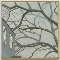 Butternut Branches Lois Dodd Painting: oil on masonite 11 7/8 x 11 7/8 in.; frame: 12 7/16 x 12 3/8 in.