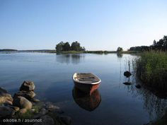 Pieni punainen soutuvene / A little red rowing boat