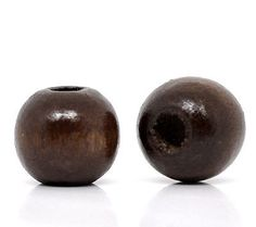Wood 179274: Wholesale Lots Coffee Dyed Round Wood Spacer Beads 10X9mm BUY IT NOW ONLY: $63.99