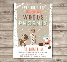A personal favorite from my Etsy shop https://www.etsy.com/ca/listing/257147771/woodland-forest-animal-invitation