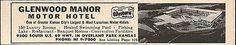 Glenwood Manor Motor Hotel Ad Overland Park Kansas 1964 Roadside Photo Ad Travel