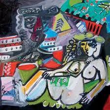 Resultado de imagen para Jean-Luc BEAUFILS Picasso, Bride, Painting, Wedding Bride, Painting Art, Paintings, The Bride, Drawings, Brides