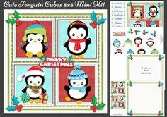 Cute Penguin Cubes 8x8 Mini Kit on Craftsuprint - View Now!