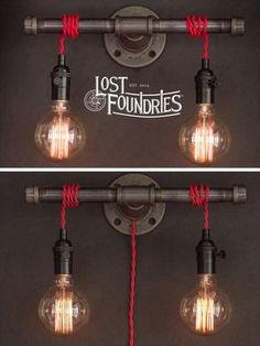 Bougeoir de tuyau industriel de Wilbur par LostFoundries sur Etsy