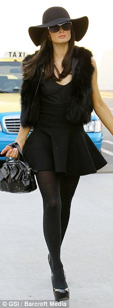 P.Hilton # all black # classy
