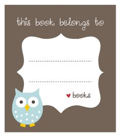 Printable owl bookplates