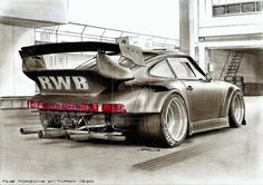 Porsche RWB Sketch - https://www.luxury.guugles.com/porsche-rwb-sketch/
