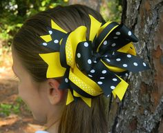 Boutique hair bows girls hair bows black by PoshPrincessBows1, $12.99