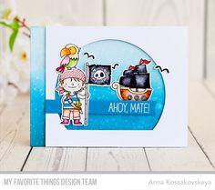 Party Like a Pirate Stamp Set and Die-namics, Stitched Arch STAX Die-namics, Blueprints 27 Die-namics - Anna Kossakovskaya #mftstamps