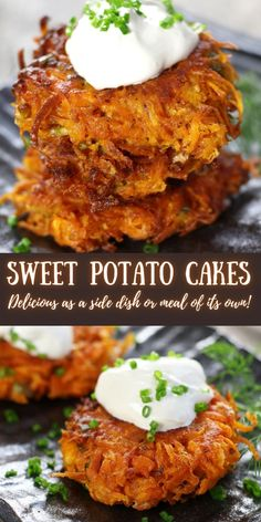These Sweet Potato Patties (aka Sweet Potato Cakes) are beyond delicious. The are a perfect side dish to chicken, pork or beef. However, they are so delicious they could be a meal by themselves. #SideDish #FallRecipes #SweetPotatoRecipes #SweetPotatoPatties #SweetPotatoCakes