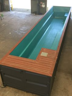 Shipping Container Pools are above ground pools built from shipping containers with a fiberglass pool insert. Each pool is pre-assembled with the plumbing under the decking and with the chid safety door and stairs, you would not need any fencing. Shipping Container Swimming Pool, Small Swimming Pools, Small Backyard Pools, Backyard Pool Designs, Diy Pool, Small Pools, Swimming Pools Backyard, Swimming Pool Designs, Pool Landscaping