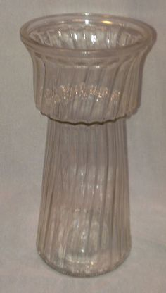"HOOSIER * Clear Glass * VASE * numbered 4089 10 - 9 3/4"" tall Bridal Decorations, Clear Glass Vases, Vintage Glassware, Numbers, Flower Vases, Floral, Home Decor, Bud Vases, Flowers"