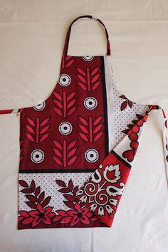 Apron made from a Khanga