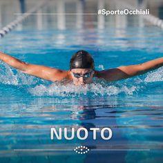 Per il nuotatore e per tutti coloro che praticano sport nell'acqua: occhialini con chiusure in silicone e fasce elastiche regolabili, che proteggono gli occhi dai batteri, dal cloro e dall'acqua salata. I portatori di lenti a contatto dovrebbero portare sempre gli occhialini, ma vi segnaliamo che sono disponibili anche con lenti graduate.   #SporteOcchiali #sport #glasses #occhiali #sunglasses #occhialidasole #swim #swimming #nuoto