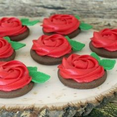 Easy Buttercream Rose Cookies are perfect for Valentine's Day, Mother's Day, Bridal Showers, Birthdays and more.
