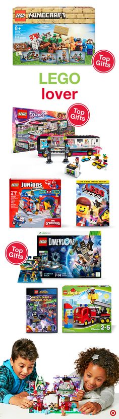 LEGO. The colorful plastic bricks everyone loves. There are so many LEGO options, and they make perfect Christmas gifts. Available for all ages and abilities, you can find Duplo blocks for small hands and more challenging sets like Architecture and Robotics for older kids. Beyond the bricks, you can find The LEGO Movie and video games for all platforms. Build, play and have fun!
