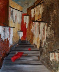 Découvrez Olga Valparaiso, artiste Rankart.  Encouragez-la en votant pour son oeuvre !  Rue Des Chiffons by Olga VALPARAISO
