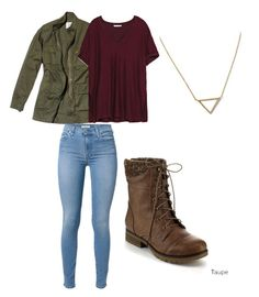 """""""rainy day casual"""" by camryn-brewer ❤ liked on Polyvore featuring moda, Nili Lotan, Zara, 7 For All Mankind, Refresh y Banana Republic"""