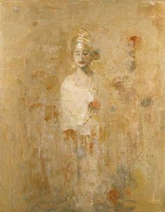 Goxwa, Apparition II, Oil and Wax on Canvas #art #encaustic #axelle