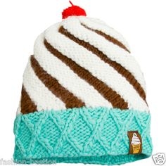 A cupcake wintertime hat with a cherry on top! and im good at knitting and crocheting! oh yea!