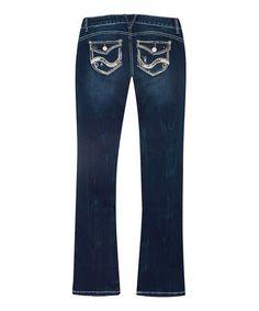 Look at this #zulilyfind! Blue Carmen Short Bootcut Jeans #zulilyfinds