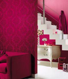 Designer Wallpaper in hot pink .. HAWT!