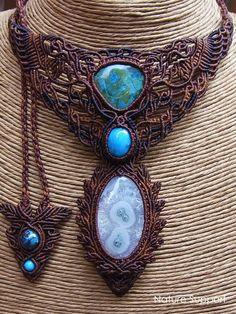 Macrame necklace _ Turquoise