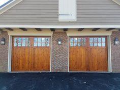 Wood Garage Doors In Knotty Cedar Installed By Overhead Door Company