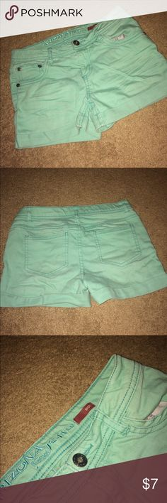 Mint green jean shorts I'm selling these mint green jean shorts that are in great condition!😁 Arizona Jean Company Shorts Jean Shorts