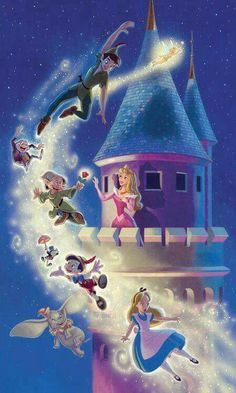 Disney Dream- Peter pan ,Snow White,sleeping beauty,dumbo,pinocchio,Alice