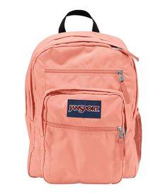 JanSport Big Student Backpack - Coral Peaches Red Jansport Backpack 6403391697af8