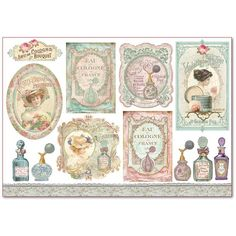 Miniature perfume labels