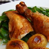 Julia Child Herb, Lemon, and Garlic Roast Chicken with Watercress http://americanfood.about.com/od/chickenrecipes/r/Chicken_Watercress_Recipe.htm