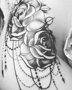 Photo by (shelbydt14) on Instagram | #hiptattoo Hip Tattoos, Skull, Instagram, Skulls, Sugar Skull, Thigh Tattoos