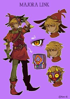 Majora Link Design by HaruChizu-----Oooohhhh....this could turn into an interesting cosplay! :3 Also....am I CRAZY, or does he look suspiciously like Skull Kid here. :/ No, really: I need to know if I'm the only one who sees it! O_O