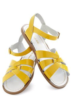 Outer Bank on It Sandal in Yellow, #ModCloth