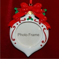 """Personalized """"Christmas Ornament""""-styled Photo Frame Christmas Ornament"""