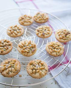 Salty Pine Nut Cookies with Thyme - #sweetpaul