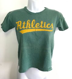 OAKLAND A's Shirt 60's 70's Vintage/ Rare!!! ATHLETICS Belly Crop Cute Fan…