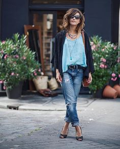 Women S Fashion Mail Order Denim Fashion, Boho Fashion, Womens Fashion, Fashion Trends, Mode Outfits, Casual Outfits, Summer Outfits, Look Street Style, Street Style Women