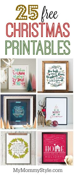 photo about Free Printable Christmas Signs named No cost Printable Xmas Get together Signs or symptoms Merry Xmas And