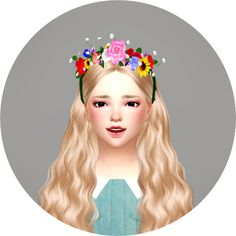 Sims 4 CC's - The Best: Flower Crown for Boys and Girls by Marigold