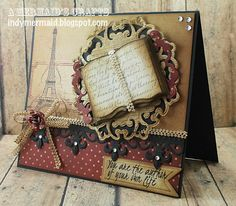 Paris Card (spellbinders)...love the black punched border with bling.
