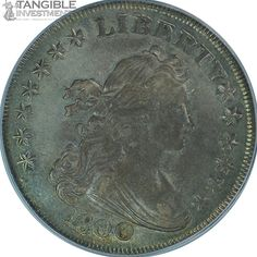 1800 Bust Dollar Heraldic Reverse. BB-187. PCGS AU-55. Normal Date with low 8 variety $13,250