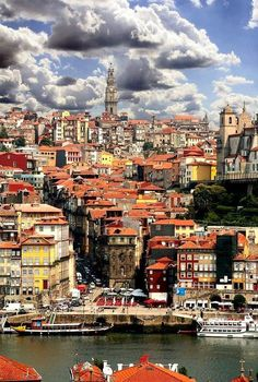 From the river toward Clergios tower ▓ Porto, Portugal. Worth a visit if you are in the north of Portugal. Portugal Travel, Spain And Portugal, Portugal Trip, Portugal Tourism, Places Around The World, Travel Around The World, Places To Travel, Places To See, Travel Destinations