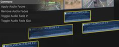 Is it possible to apply audio fades to a group of clips all at once in FCPX? Yes, from the...